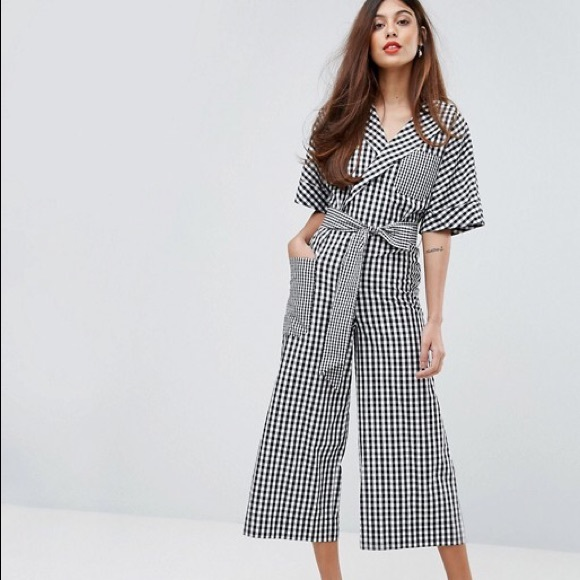 39f5509bed6 ASOS Pants - Warehouse from ASOS size 12 gingham jumpsuit